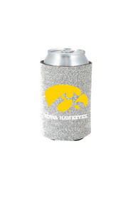 Iowa Hawkeyes Silver Glitter Can Coolie
