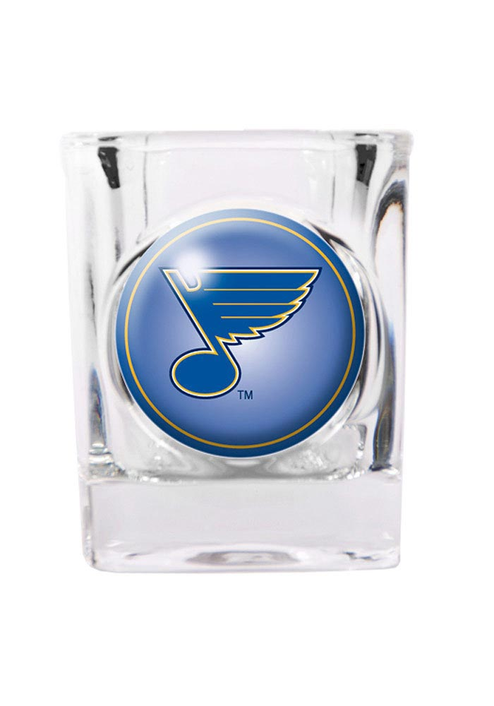 St Louis Blues 2oz Square Shot Glass, Blue, GLASS
