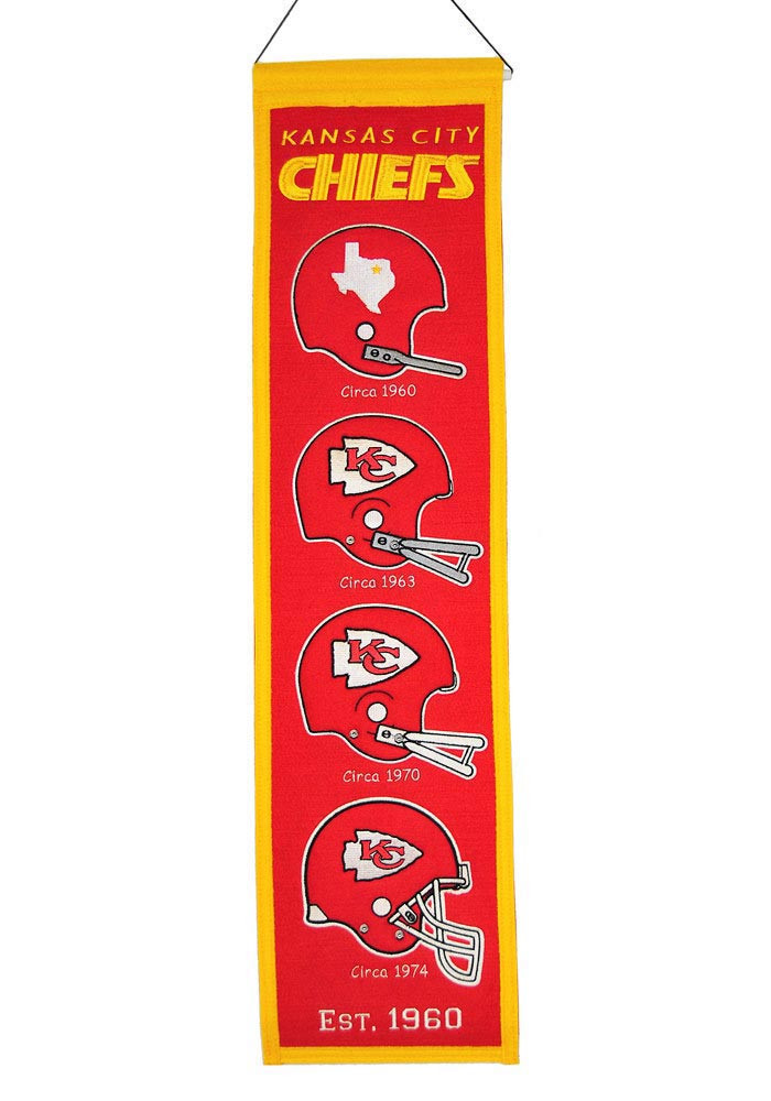Kansas City Chiefs 8x32 Heritage Banner - Image 1
