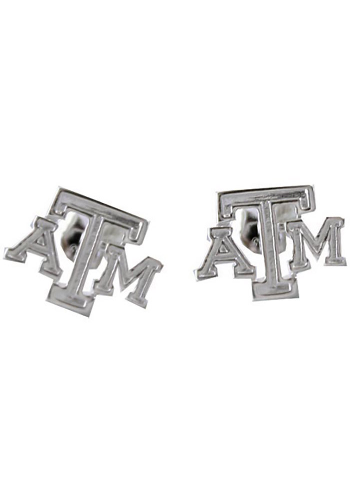 Texas A&M Aggies Silver Post Womens Earrings - Image 1