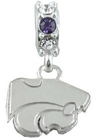K-State Wildcats Womens Beaded Charm Charm - Silver