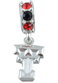 Texas Tech Red Raiders Womens Beaded Charm Charm - Silver
