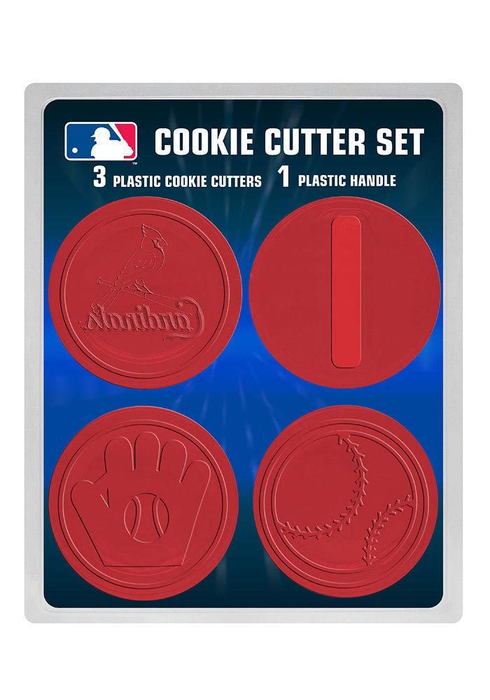 St Louis Cardinals 3pk Red Logo Cookie Cutters - Image 1
