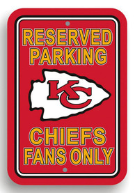 Kansas City Chiefs Reserved Parking Sign