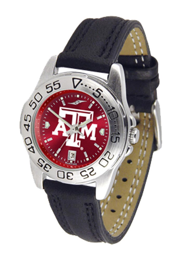 Texas A&M Aggies Sport Leather Womens Watch - Image 1