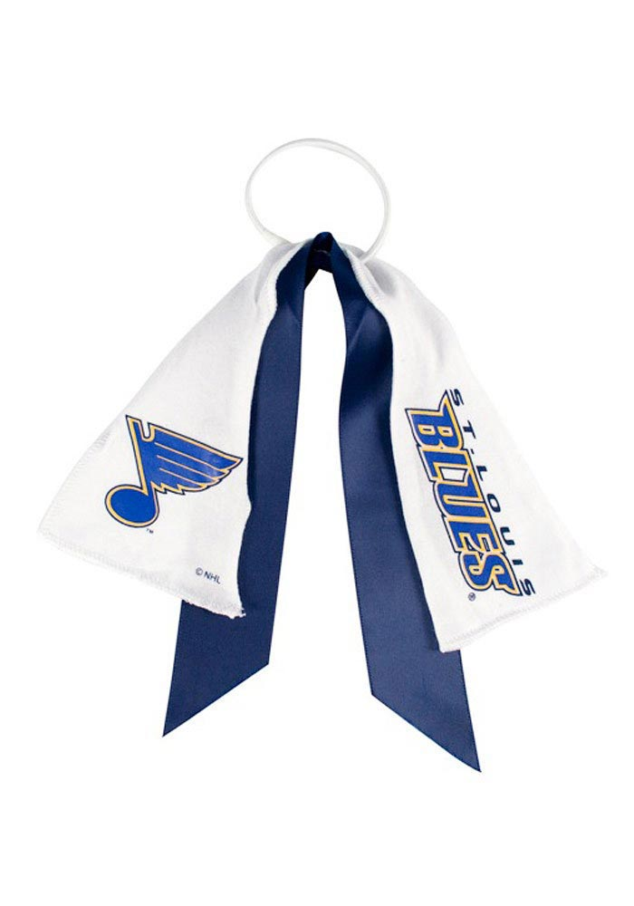 St Louis Blues Ponytail Holder Youth Hair Scrunchie - Image 1
