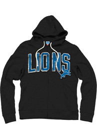 Detroit Lions Junk Food Clothing Sunday Hoodie Zip Fashion - Black
