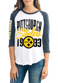 Junk Food Clothing Pittsburgh Steelers Womens All-American White T-Shirt