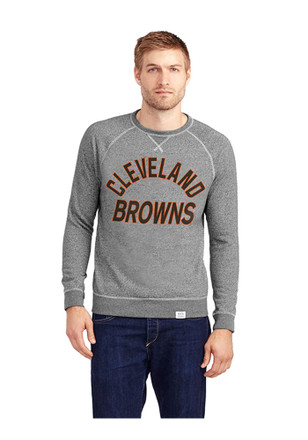 Cleveland Browns Mens Grey Formation Fleece Fashion Sweatshirt