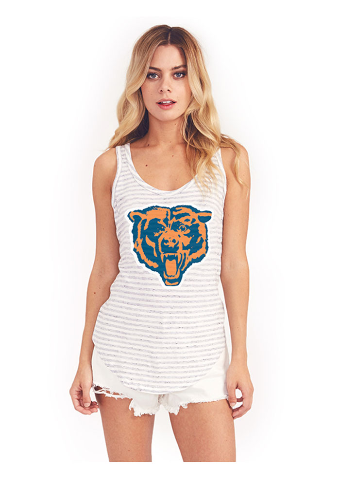 Junk Food Clothing Chicago Bears Womens Grey Time Out Tank Top - Image 1