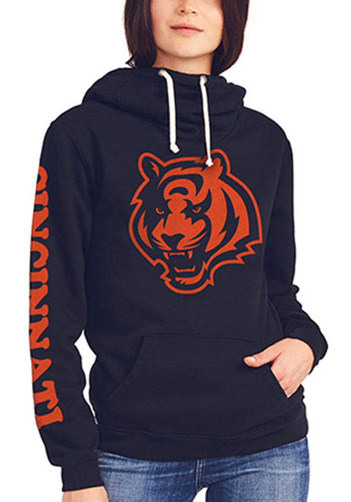 Junk Food Clothing Cincinnati Bengals Womens Black Sunday Hooded Sweatshirt - Image 1