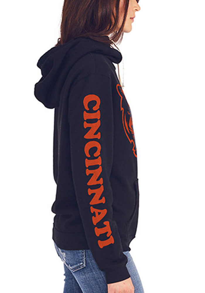Junk Food Clothing Cincinnati Bengals Womens Black Sunday Hooded Sweatshirt - Image 2