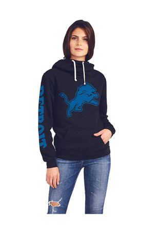 Junk Food Clothing Detroit Lions Womens Black Sunday Hoodie