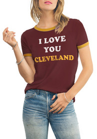 Junk Food Clothing Cleveland Cavaliers Womens Free Throw Crimson T-Shirt
