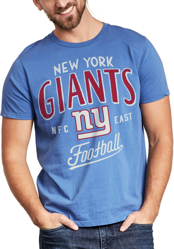 Junk Food Clothing New York Giants Blue Kickoff Crew Short Sleeve Fashion T Shirt - Image 1