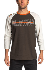Cleveland Browns Junk Food Clothing Vintage Contrast Fashion T Shirt - Brown