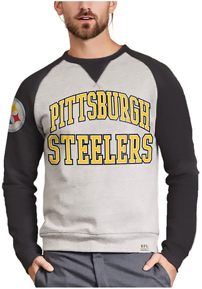 Pittsburgh Steelers Grey Formation Fleece Long Sleeve Fashion T Shirt - Image 1