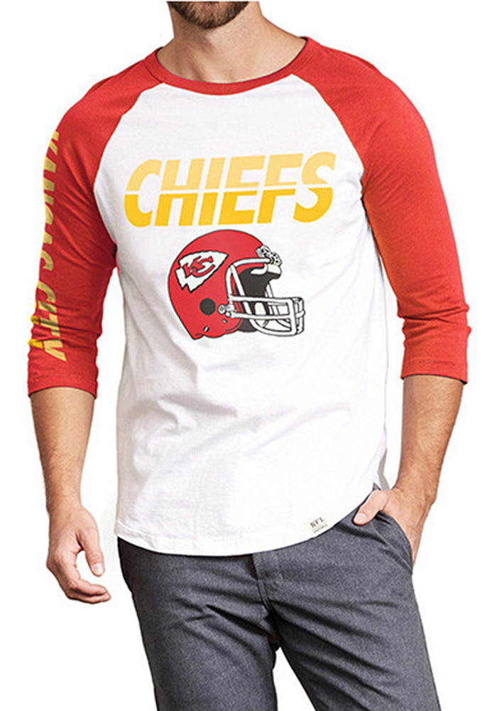 Kansas City Chiefs White All American Raglan Long Sleeve Fashion T Shirt - Image 1