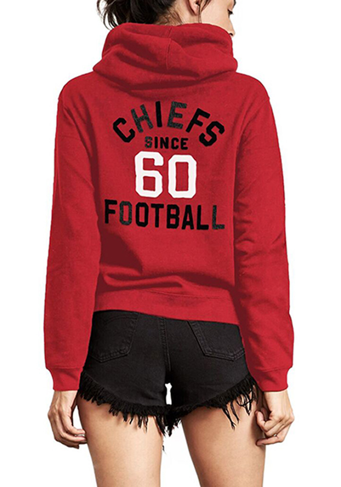 Junk Food Clothing Kansas City Chiefs Womens Red Sunday Hoodie