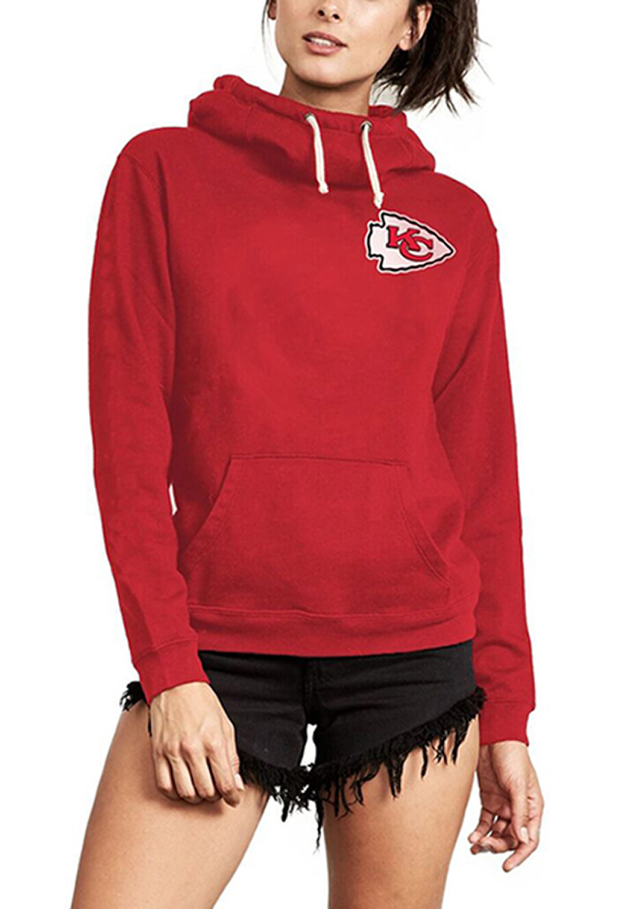 low priced 67a9f 028da Junk Food Clothing Kansas City Chiefs Womens Red Sunday Hooded Sweatshirt