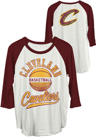 Junk Food Clothing Cleveland Cavaliers Womens All American White T-Shirt