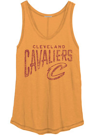 Cleveland Cavaliers Womens Junk Food Clothing All Star Tank Top - Gold
