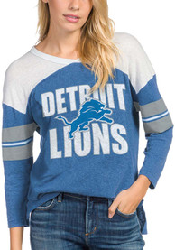 Detroit Lions Womens Junk Food Clothing Throwback Football T-Shirt - Blue
