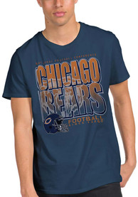Junk Food Clothing Chicago Bears Navy Blue Classic Fashion Tee
