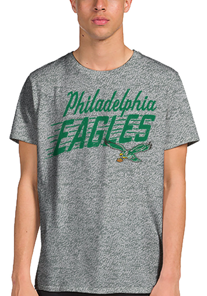Junk Food Clothing Philadelphia Eagles Grey Philly Town Short Sleeve Fashion T Shirt - Image 1