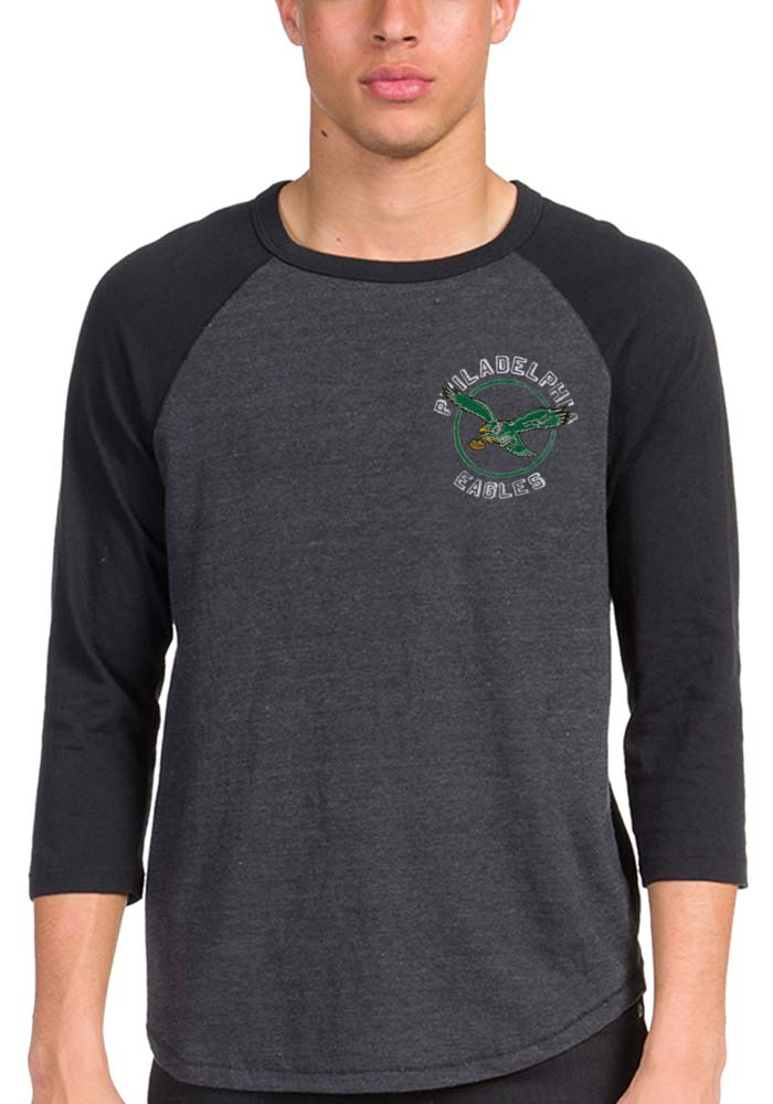 Junk Food Clothing Philadelphia Eagles Black Eagle Claw Long Sleeve Fashion T Shirt - Image 1