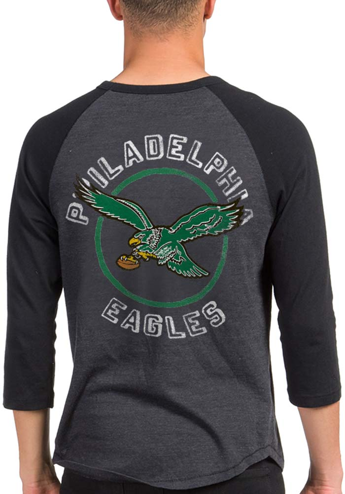 Junk Food Clothing Philadelphia Eagles Black Eagle Claw Long Sleeve Fashion T Shirt - Image 2