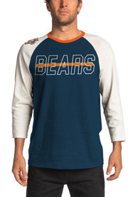 Junk Food Clothing Chicago Bears Navy Blue Vintage Contrast Fashion Tee