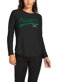 best service aee94 841d4 Philadelphia Eagles Womens Thermal Green LS Tee