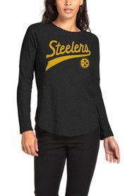 Pittsburgh Steelers Womens Junk Food Clothing Thermal T-Shirt - Black