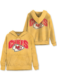 Kansas City Chiefs Womens Junk Food Clothing Fullback Hooded Sweatshirt - Gold