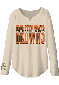 Cleveland Browns Womens Junk Food Clothing Sunday T-Shirt - Oatmeal