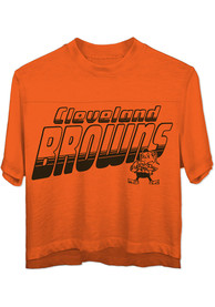 Cleveland Browns Womens Junk Food Clothing Champions T-Shirt - Orange