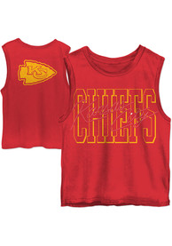 Kansas City Chiefs Womens Junk Food Clothing Timeout Tank Top - Red