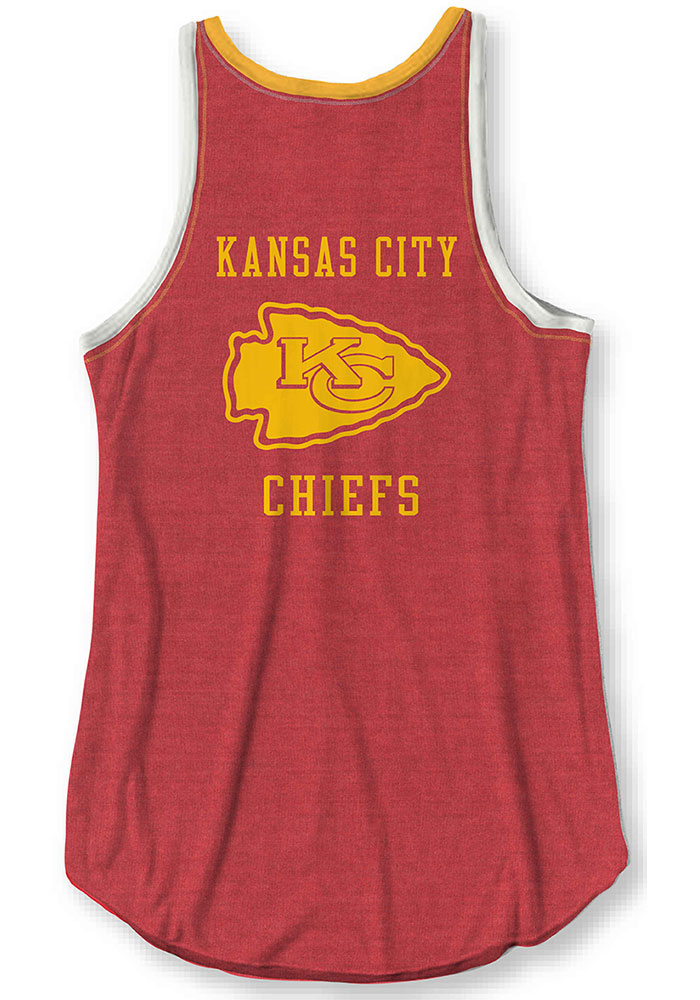Junk Food Clothing Kansas City Chiefs Womens Red Touchdown Tank Top - Image 1