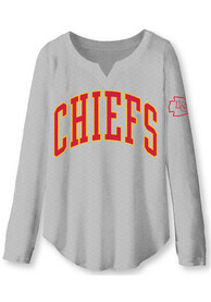 Kansas City Chiefs Womens Junk Food Clothing Sunday T-Shirt - Grey