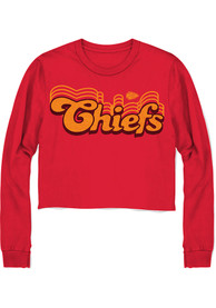 Kansas City Chiefs Womens Junk Food Clothing Cropped T-Shirt - Red