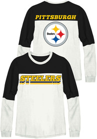 Pittsburgh Steelers Womens Junk Food Clothing Comeback T-Shirt - White