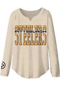 Pittsburgh Steelers Womens Junk Food Clothing Sunday T-Shirt - Oatmeal