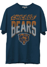 Chicago Bears Junk Food Clothing Hall Of Fame Fashion T Shirt - Navy Blue