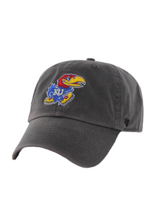 0d261720840  47 Kansas Jayhawks Grey Clean Up Adjustable Hat