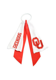 Oklahoma Sooners Youth Ponytail Holder Hair Scrunchie - Crimson