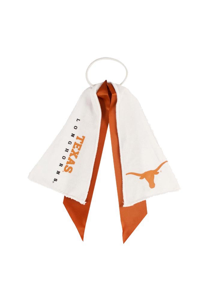 Texas Longhorns Ponytail Holder Youth Hair Scrunchie - Image 1