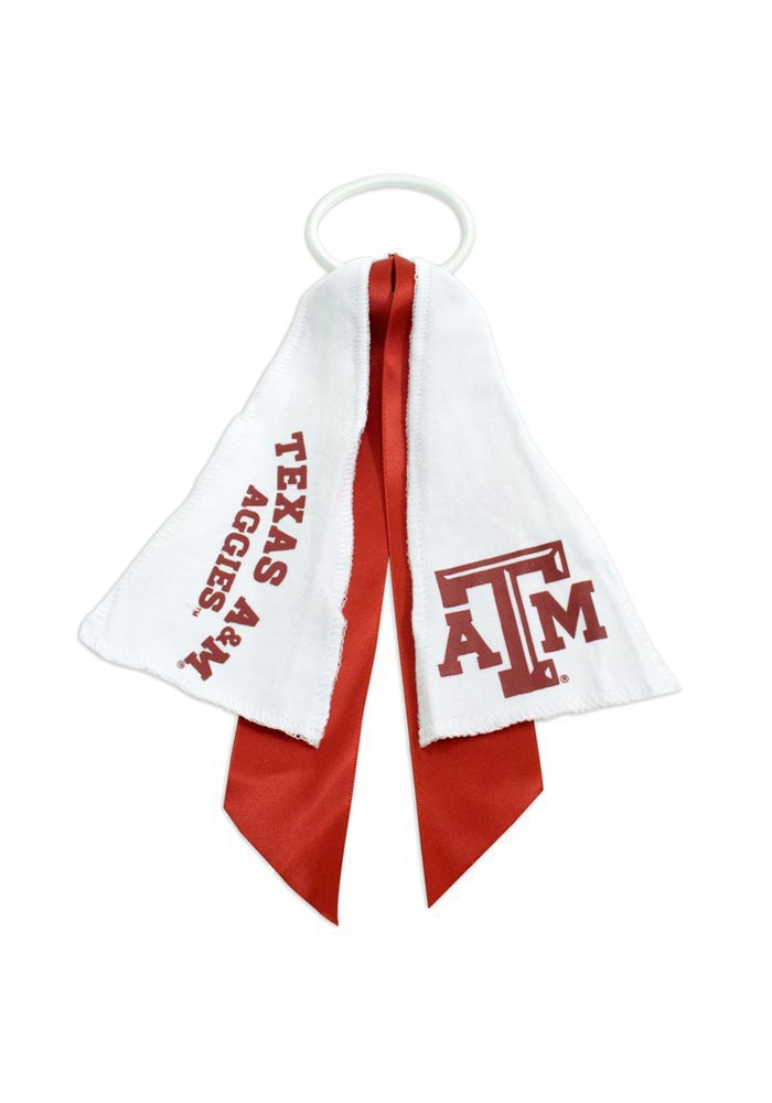 Texas A&M Aggies Ponytail Holder Youth Hair Scrunchie - Image 1
