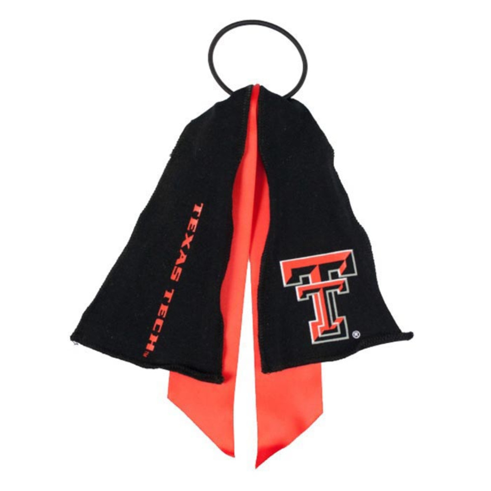 Texas Tech Red Raiders Ponytail Holder Youth Hair Scrunchie - Image 1