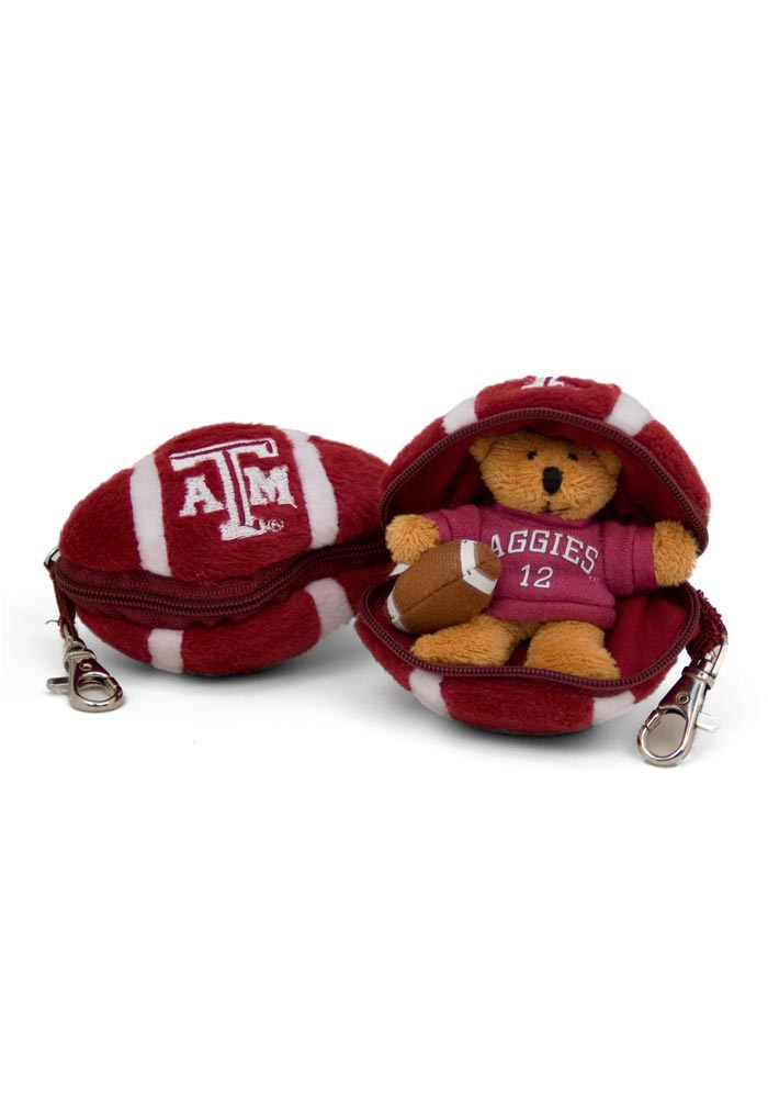 Texas A&M Aggies Bear ZipUp Football Keychain - Image 1